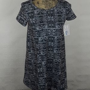 NWT Lula Roe Gray High/low Dress Size 12